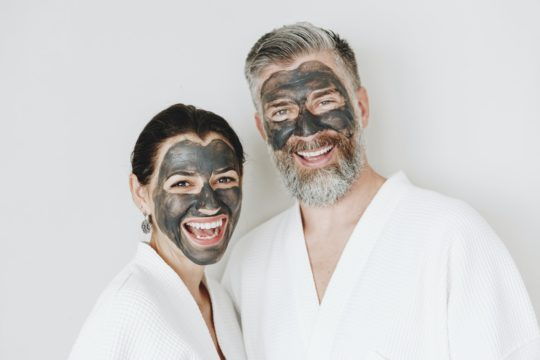 activated charcoal powder used as face mask or face pack