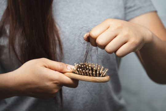 Women have hair loss problems during winter seasons