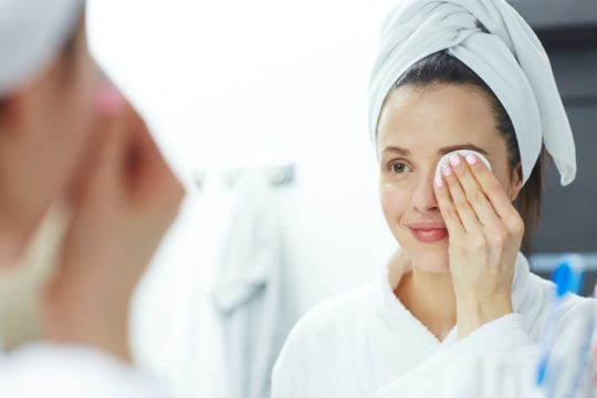 Sweet Almond oil used as a makeup cleanser